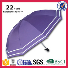 Promotional Wholesale Logo Printed Luminous Light Weight Packet Edge Reverse Folding Umbrellas
